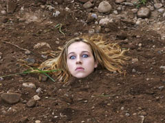 Girl buried alive